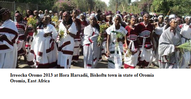Irreecha Oromo 2013 at  Hora Harsadi, Bishoftu town in state of Oromia, East Africa