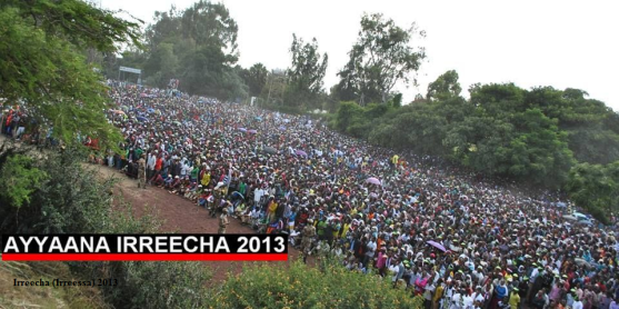 Irreecha Oromo 2013 at Hora Harsadi, Bishoftuu, Oromia