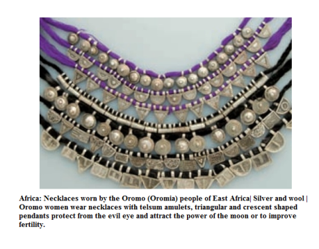 Oromo women necklaces1
