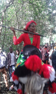 Celebration of Irreecha Oromoo 2014 (6408 according to Oromo Calendar). 5th October 2014, Horaa Harsadii, Bishoftu, Oromia. Suura1