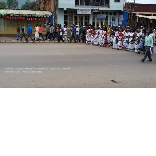 Celebration of Irreecha Oromoo 2014 (6408 according to Oromo Calendar). 5th October 2014, Horaa Harsadii, Bishoftu, Oromia. Suura10