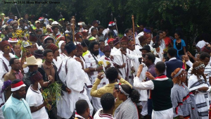 Celebration of Irreecha Oromoo 2014 (6408 according to Oromo Calendar). 5th October 2014, Horaa Harsadii, Bishoftu, Oromia. Suura6