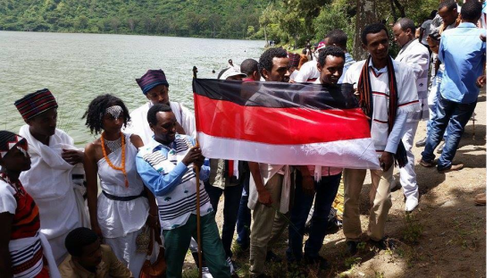 Celebration of Irreecha Oromoo 2014 (6408 according to Oromo Calendar). 5th October 2014, Horaa Harsadii, Bishoftu, Oromia. Suura7