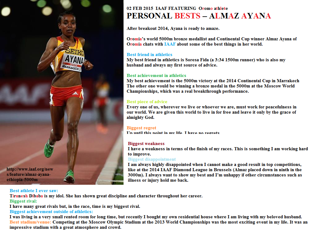 IAAF featuring Almaz Ayana