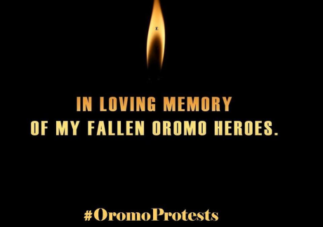 In loving memory of fallen Oromo heroes