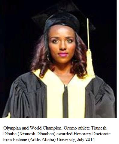 Oromo athlete  Dr. Tirunesh Dibaba