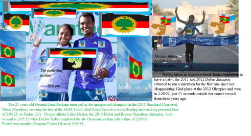 Oromo athletes are winners of 2015 Dubai Marathon