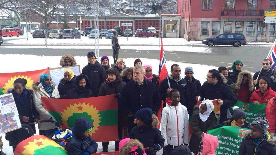 #OromoProtests global solidarity rally, Odda, Norway. 19 January 2016.png