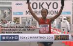 Berhane Dibaba win the 2015 TokyoMarathon