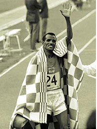 Oromo athlete Mamo Wolde Dagaga 1968 Mecico Olympics winner
