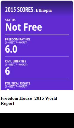 Ethiopia's scores on freedom