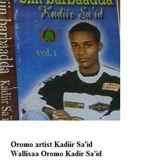Oromo artist kadir Sa'id