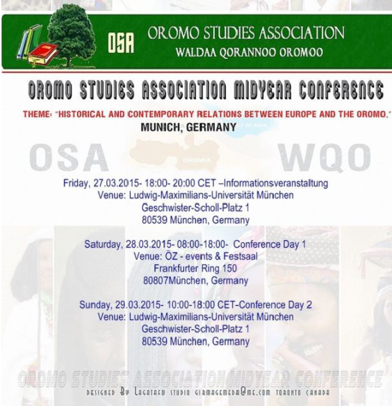 Oromo Studies Association Midyear Conference in Munich, Germany, 2015