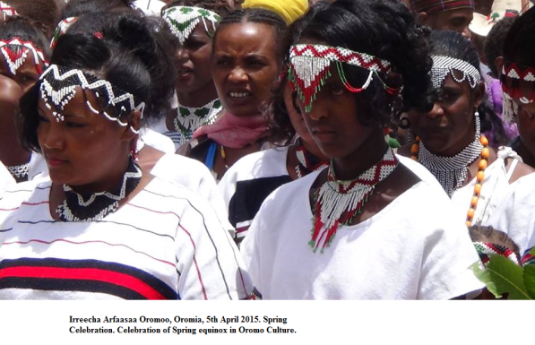 Celebration of Spring equinox in Oromo Culture.