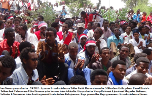 Irreecha Arfaasaa Oromoo, Tulluu Furii. 5th April 2015, Oromia.