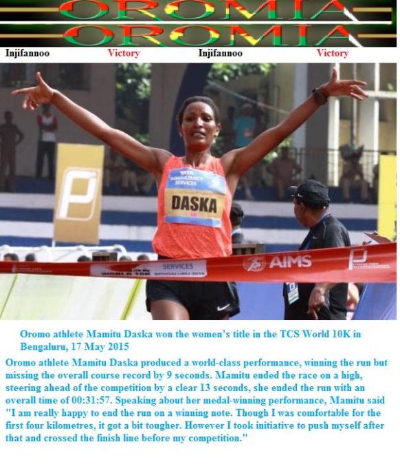 Oromo Athlete Mamite Daska