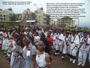 Spring Celebration. Irreecha Arfaasaa in jimma, Oromia. Tulluu Begii