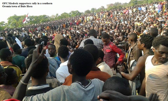 Oromo Federalist  Congress rally in a Southern Oromia town of Bule Hora