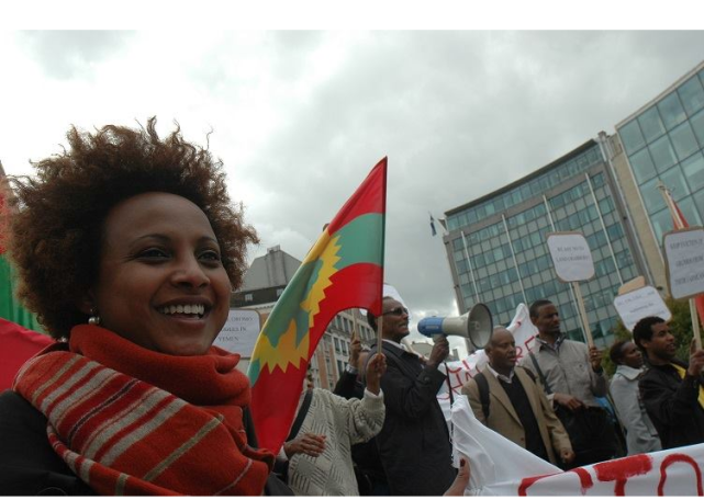 Oromians held peaceful  protests in  Brussels, Belgium against Ethiopia's genocide against Oromo  people1