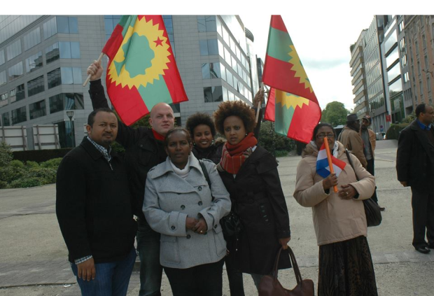 Oromians held peaceful  protests in  Brussels, Belgium against Ethiopia's genocide against Oromo  people2