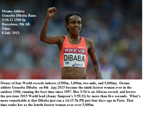 Barcelona, Genzebe Dibaba win 1500m on 8 July 2015