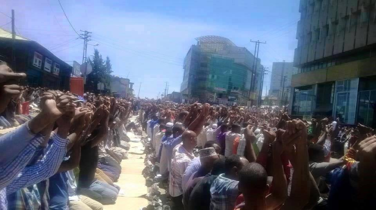 Ethiopian Muslims staged protest across the country, 10 July 2015