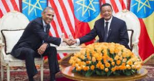 Obama Ethiopia visit, picture with president Mulatu Teshome Wirtu Jula