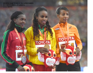 BEIJING-IAAF WORLD CHAMPIONSHIPS-WOMEN'S 1500M AWARDING CEREMONY