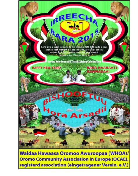 Tumsa ykn Yaadannoo Irreecha (Irreessa) Bara 2015 Cinaa (Bukkee) Hora Arsadiitti Geggeessamu1