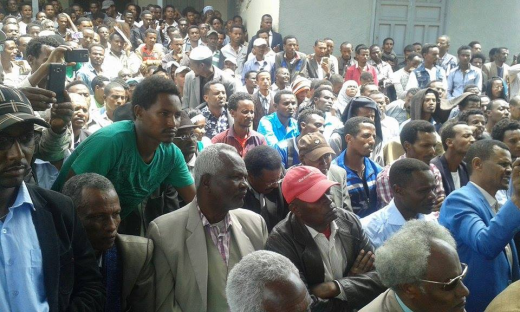 Oromo Federalist Congress Public Meeting in Finfinnee to protest TPLF's landgrab in the name of Master Plan. picture2