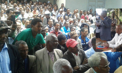 Oromo Federalist Congress Public Meeting in Finfinnee to protest TPLF's landgrab in the name of Master Plan. picture3