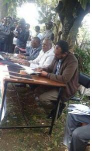 Oromo Federalist congress public meetingin Finfinnee against landgrab in Oromia, 18th October 2015