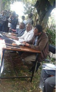 Oromo Federalist congress public meetingin Finfinnee against landgrab in Oromia, 18th October 2015