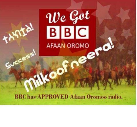 BBC Afaan Oromoo milkoofneerra