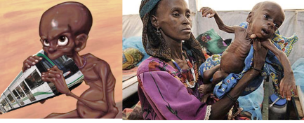 Ethiopia in 2015, catatrphic famine, over 15 million people affected