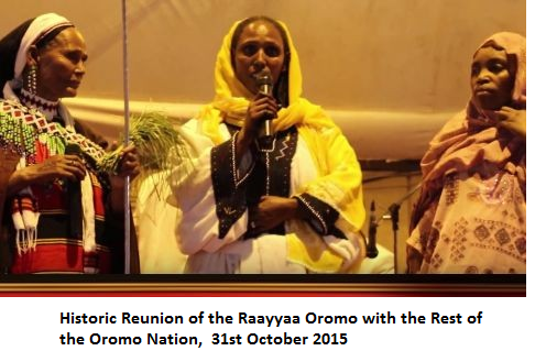 Historic Reunion of the Raayyaa Oromo with the Rest of the Oromo Nation