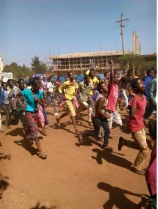 Oromo Students protest @ Mandii, Western Oromia 25th November 2015