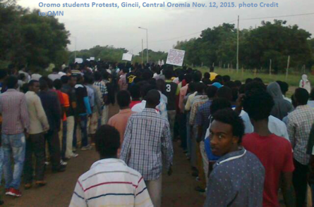 Oromo Students Protests, Gincii, Central Oromia, Nov. 12, 2015