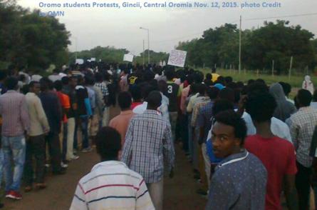 Oromo Students Protests, Gincii, Central Oromia, Nov. 12, 2015