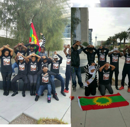 #‎OromoProtests‬ Global Solidarity, Las vegas (USA), 11 December 2015