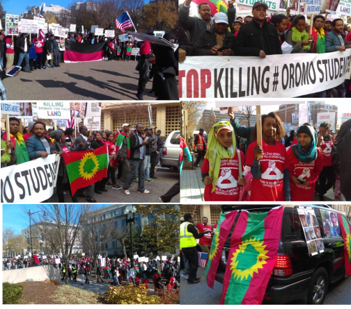 #‎OromoProtests‬ Global Solidarity, Washington DC (USA), 10 December 2015