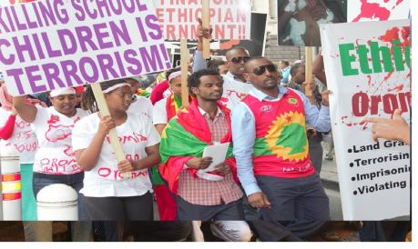 #OromoProtests Global Solidarity, Australia, 11 December 2015