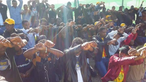 ‪#‎OromoProtests‬ Global Solidarity Rally Tabuk, Saudi Arabia, 11 December 2015