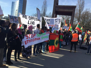‪#‎OromoProtests‬ Global Solidarity, Switzerland, 11 December 2015