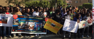 Egypt, Oromo Peaceful rally in solidarity with #OromoProtests in Oromia against TPLF Ethiopian regime's ethnic cleansing (Master plan), December 10, 2015