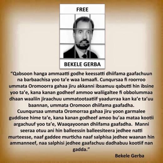 Free Bekele Gerba