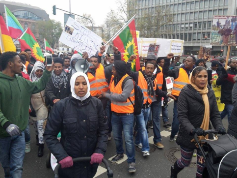 Germeny, Oromo Peaceful rally in solidarity with #OromoProtests in Oromia against TPLF Ethiopian regime's ethnic cleansing (Master plan), December 10, 2015, picture