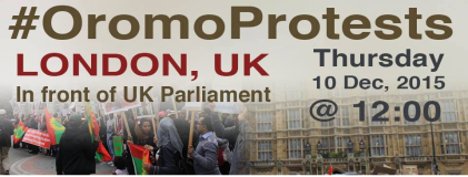 Global Rally in Solidarity with Oromo students in Oromia. London