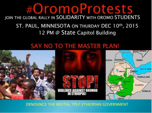 Global rally in solidarity with Oromo students in state of Oromia. Minnesota