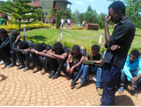Oromo students Protest against the Master Plan ! Walaita Sodo University, silent sit ins.png